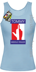 Tommy Middle Finger - Top damski błękit