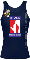 Tommy Middle Finger - Top damski granat
