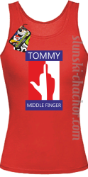 Tommy Middle Finger - Top damski red