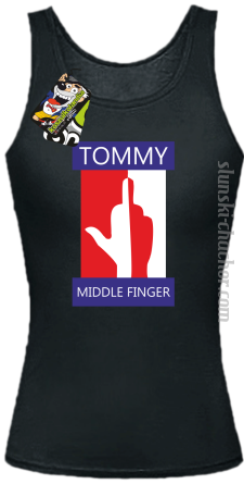 Tommy Middle Finger - Top damski czarny