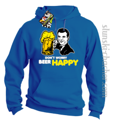 DON'T WORRY BEER HAPPY - Bluza z kapturem royal