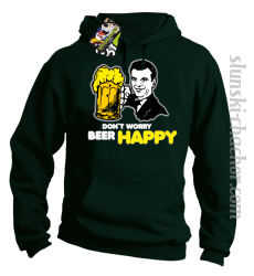 DON'T WORRY BEER HAPPY - Bluza z kapturem butelka