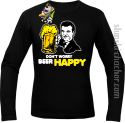 DON'T WORRY BEER HAPPY - Longsleeve męski czarny