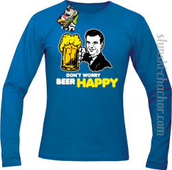 DON'T WORRY BEER HAPPY - Longsleeve męski royal