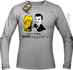 DON'T WORRY BEER HAPPY - Longsleeve męski melanż