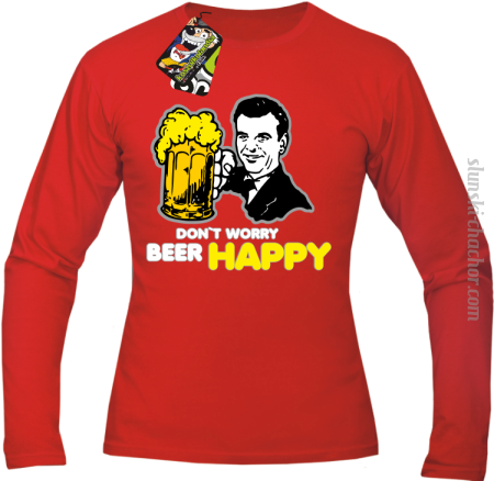 DON'T WORRY BEER HAPPY - Longsleeve męski