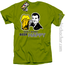 DON'T WORRY BEER HAPPY - Koszulka męska kiwi