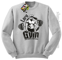 LORD Gym Stop wishing Start Doing - Bluza męska STANDARD melanż
