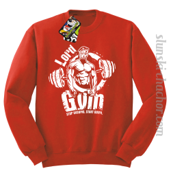 LORD Gym Stop wishing Start Doing - Bluza męska STANDARD red