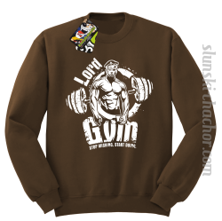 LORD Gym Stop wishing Start Doing - Bluza męska STANDARD brąz