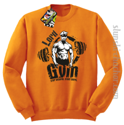 LORD Gym Stop wishing Start Doing - Bluza męska STANDARD pomarańcz