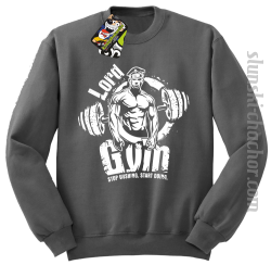 LORD Gym Stop wishing Start Doing - Bluza męska STANDARD szara