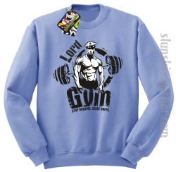 LORD Gym Stop wishing Start Doing - Bluza męska STANDARD błękit