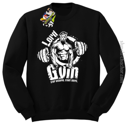 LORD Gym Stop wishing Start Doing - Bluza męska STANDARD czarny