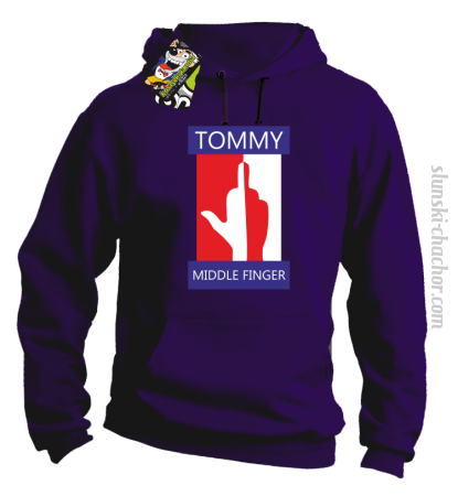 Tommy Middle Finger - Bluza męska z kapturem