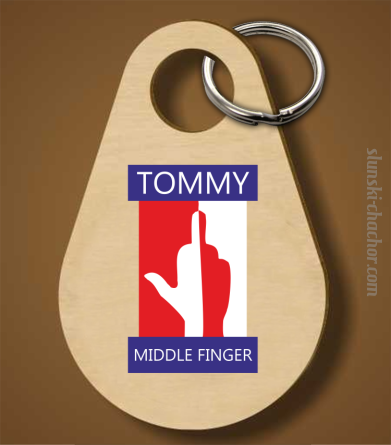 Tommy Middle Finger - Brelok