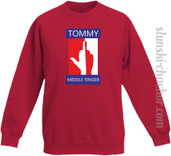Tommy Middle Finger - Bluza dziecięca STANDARD red