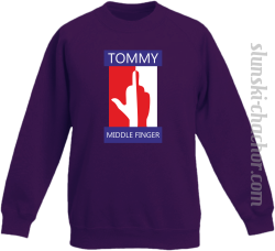 Tommy Middle Finger - Bluza dziecięca STANDARD fiolet