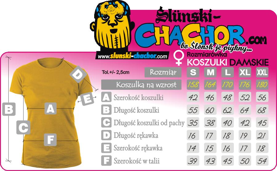 Rozmiarówka damska koszulki  SLUNSKI CHACHOR Koszulkolandia